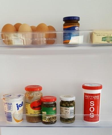 Abbildung der Rettung aus der Dose im Kühlschrank